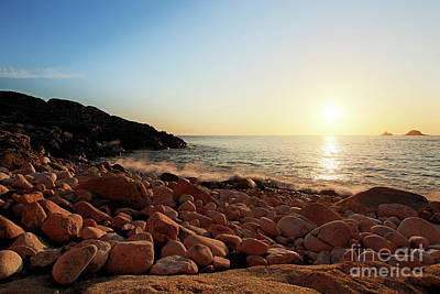 Photograph - Evening Glow At Porth Nanven by Terri Waters