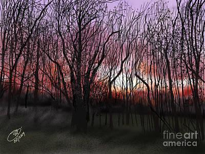 Digital Art - Evening Glow -ii by Joel Deutsch