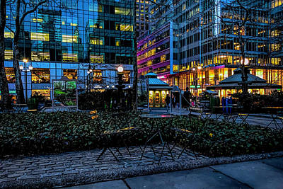 Photograph - Evening In Bryant Park by Alison Frank