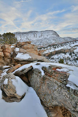 Photograph - Evening In Snow Covered Colorado National Monument by Ray Mathis