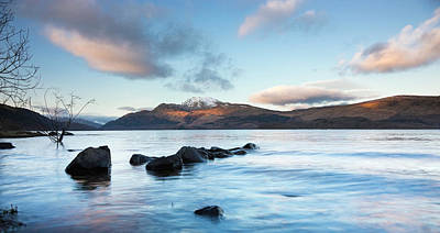 Photograph - Evening Light On Ben Lomond With Clouds by Theasis
