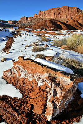 Photograph - Evening Light On Capitol Reef Np by Ray Mathis