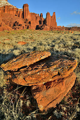 Photograph - Evening Light On Fisher Towers In Utah by Ray Mathis