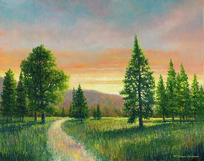 Painting - Evening Light On The Meadow by Douglas Castleman