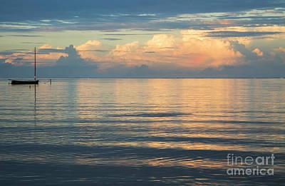 Photograph - Evening Light Over Kaneohe Bay by Charmian Vistaunet