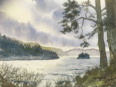 Painting - Evening On Derwentwater by Glenn Marshall