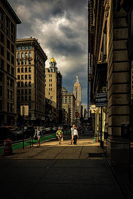 Photograph - Evening On Fifth Avenue by Chris Lord