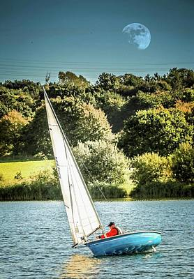 Photograph - Evening Sailing by Pete Hunt
