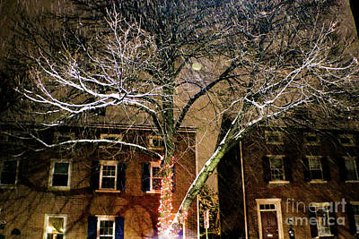 Studio Graphika Literature - Evening Snow in West Chester by Sandy Moulder