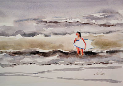 Painting - Evening Surf by Julianne Felton
