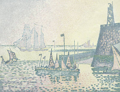 Painting - Evening, The Jetty At Vlissingen, 1898 by Paul Signac