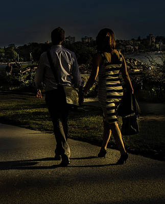 Photograph - Evening Walk by Juan Contreras
