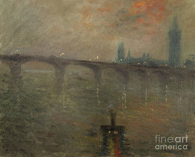 Painting - Evening, Westminster From Waterloo Bridge by Jacques-Emile Blanche