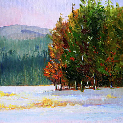 Painting - Evergreen Forest by Nancy Merkle