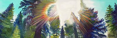 Painting - Evergreen Spectrum by Cedar Lee