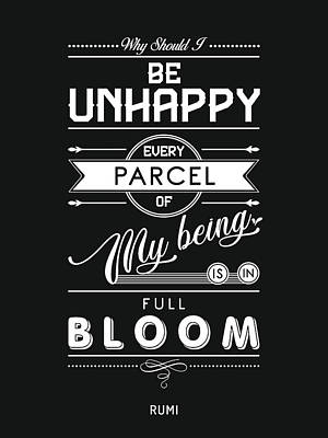 Mixed Media Royalty Free Images - Every parcel of my being is in full bloom - Rumi Quotes - Typography Print - Rumi Poster Royalty-Free Image by Studio Grafiikka