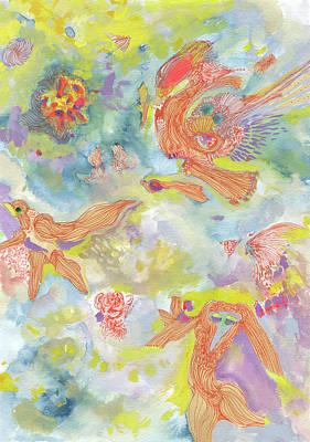 Everyone Dances In My Garden #ss19dw001  Art Print by Satomi Sugimoto