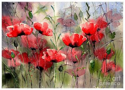 Jerusalem Wall Art - Painting - Everything About Poppies by Suzann's Art