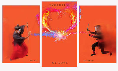 Photograph - Evolution Of Love- Hate- by JD Mims