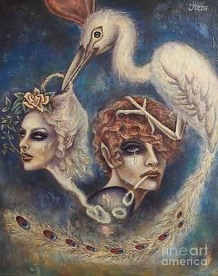 Fantasy Painting - Ewige Widerkunft by Julie Kitamura