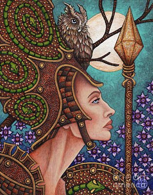 Painting - Exalted Beauty Athena by Amy E Fraser