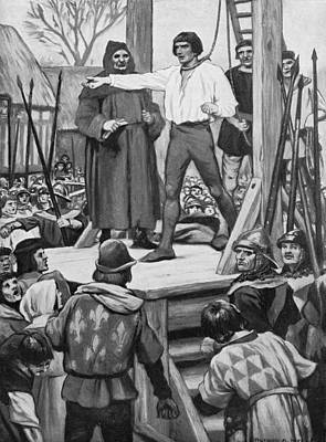 Execution Of Warbeck Art Print by Hulton Archive