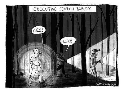 Drawing - Executive Search Party by Sofia Warren