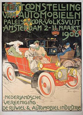 Painting - Exhibition Of Automobiles, Den Haag 1906 by Unknown