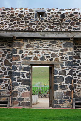 Photograph - Exiting Cove Fort View Through The Door by Colleen Cornelius