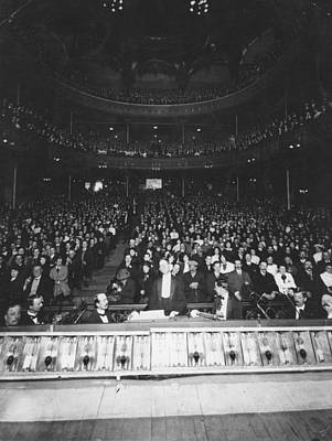 Photograph - Expectant Audience by Hulton Archive