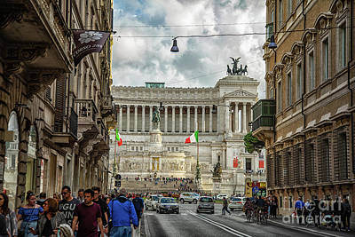 Photograph - Exploring Rome Vittorio Emanuele II Monument Rome Italy by Wayne Moran