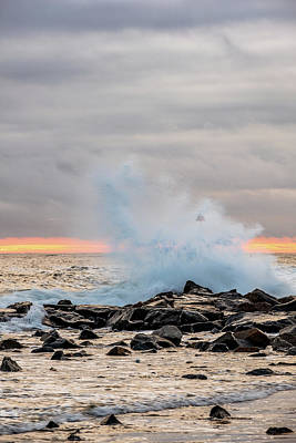 Photograph - Explosive Sea 4 by Jeff Sinon