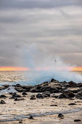 Photograph - Explosive Sea 5 by Jeff Sinon