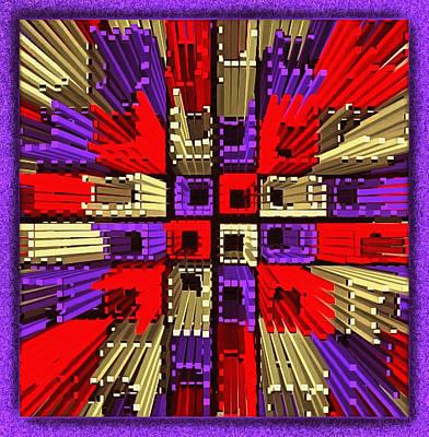 Digital Art - Explosive Tiles by Mario Carini