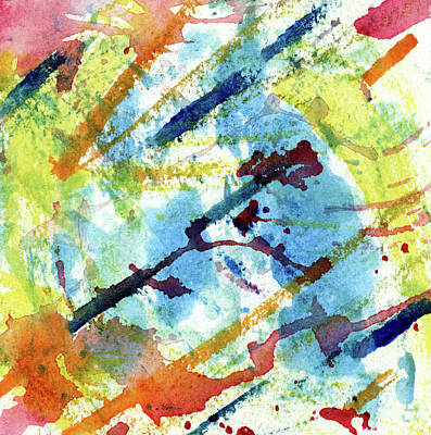 Music Paintings - Expository - Abstract Watercolor Painting by Susan Porter