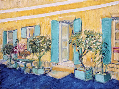 Painting - Exterior of a Restaurant, after Vincent Van Gogh by Linda Falorio