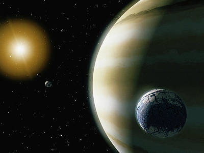 Photograph - Extrasolar Planet With Water-bearing by Stocktrek