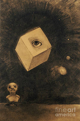 Pastel - Eye By Odilon Redon by Odilon Redon