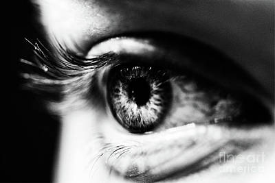 Photograph - Eye In Black And White by Toula Mavridou-Messer