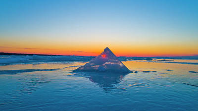 Photograph - Eye In The Ice by Coulter Stuart