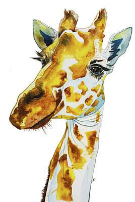 Wall Art - Painting - Eye Lashes To The Sky Giraffe by Patrizia K Ingram