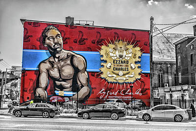 Photograph - Ezzard Charles Mural by Sharon Popek