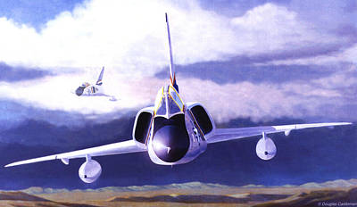 Painting - F-106a Head-on by Douglas Castleman
