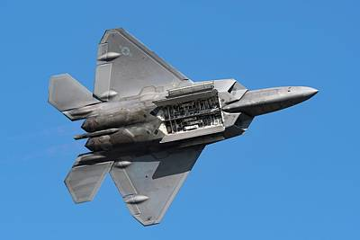 Photograph - F-22 Weapons Bay Pass by Chris Buff