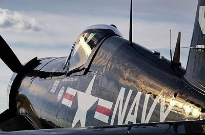 Photograph - F4u At Sunset - 2017 Christopher Buff, Www.aviationbuff.com by Chris Buff