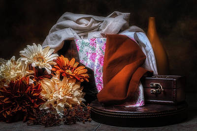 Material Wall Art - Photograph - Fabric And Flowers by Tom Mc Nemar