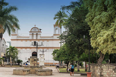 Keith Richards - Facade of the old colonial church located in Copa Ruinas town, H by Marek Poplawski