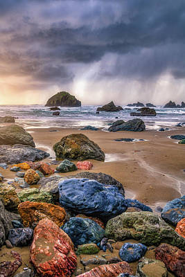 Royalty-Free and Rights-Managed Images - Face Rock Storm by Darren White