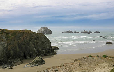 Photograph - Face Rock View, Bandon Beach, Oregon by Dawn Richards