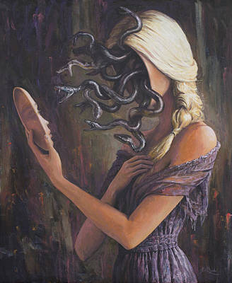 Consciousness Painting - Facing Myfelf by Adrian Borda